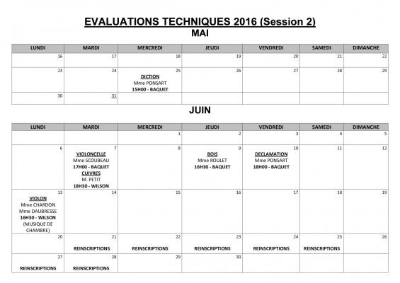 Evaluations techniques 2018